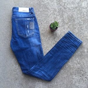 Grace In LA Jeans Studded Distressed Studding 26